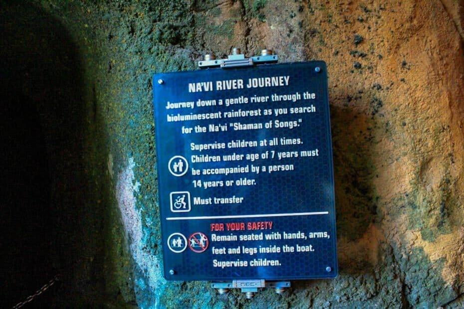 Ride Rules Na'vi River Journey