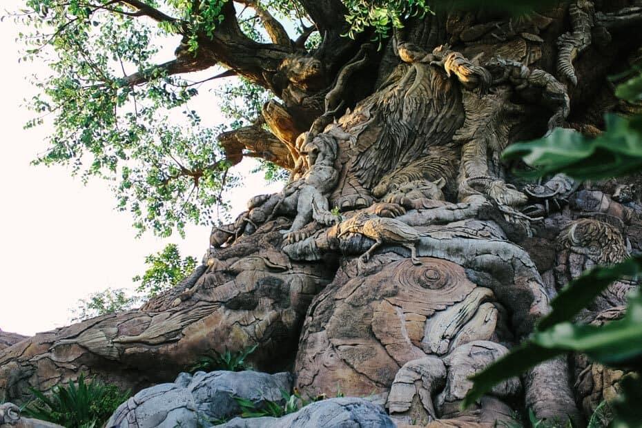 Wood Carvings on Tree of Life Animal Kingdom