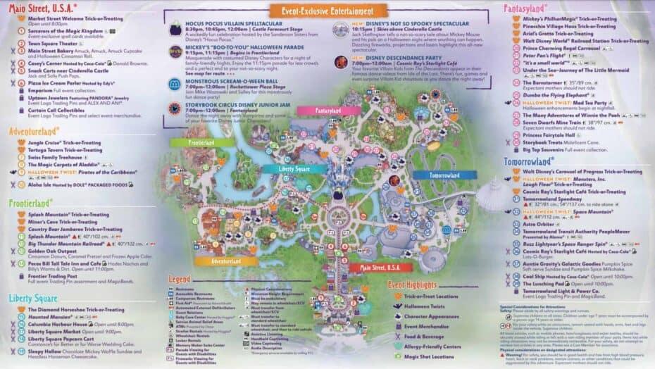 Mickey's Not So Scary Halloween Map