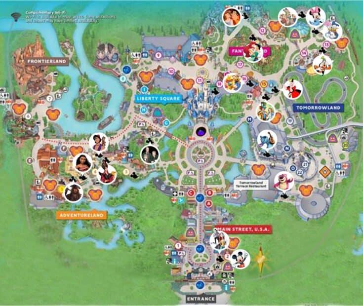 Magic Kingdom Halloween Party Character Map