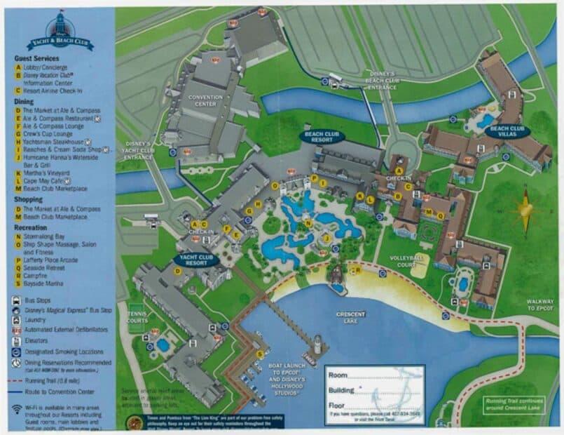 Disney's Yacht Club Map